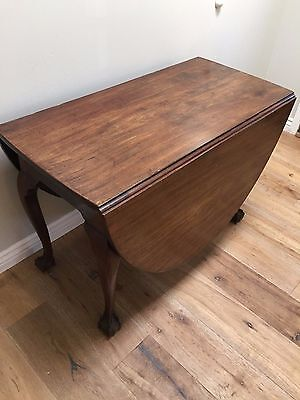 Antique English George Ii Mahogany Drop-Leaf, Gateleg Table  18Th Century