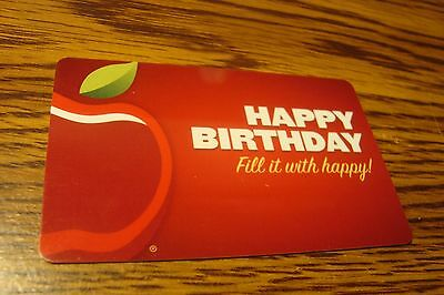 Applebees Happy Birthday GIFT CARD NO VALUE-Never Used or Activated Collectable