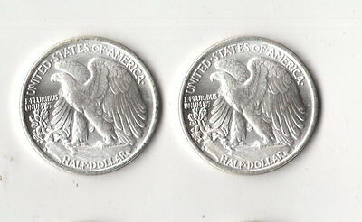 Walking Liberty Half Dollar Two Face Novelty Trick Coin Two Tails Magic