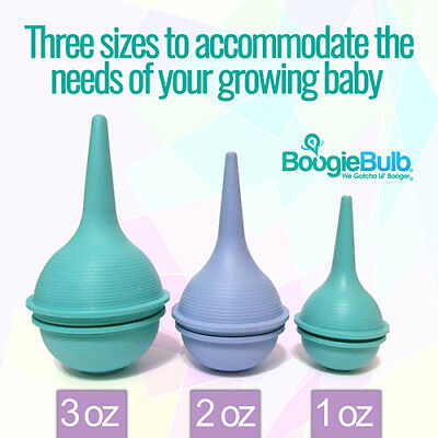 BoogieBulb® CLEANABLE Baby Nasal Aspirator Nose Bulb Snot Sucker Ear Syringe