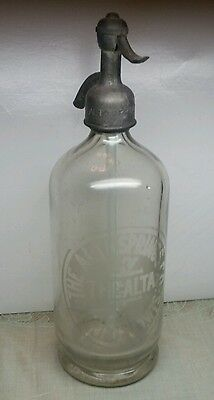 RARE SELTZER BOTTLE Alta Springs Dunfield WI WIS Merril Wisconsin Gost Town