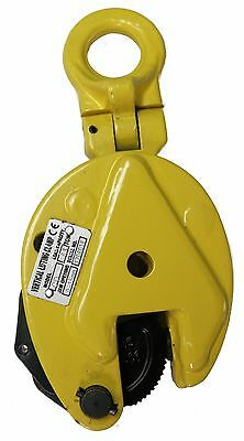 V-Lift Industrial Vertical Plate Lifting Clamp Steel 2204 Lbs WLL