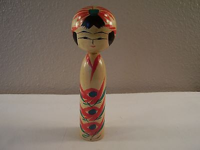 "Vintage JAPANESE Asian YAMAHA Hand Painted KOKESHI Wooden 6"" DOLL Signed MINT!"