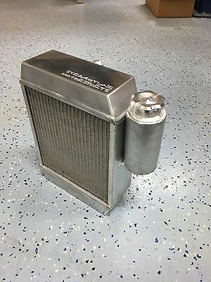 Civic/ Integra Drag Radiator withBILLET END TANKS And Overflow b18/b20/k20 SFWD