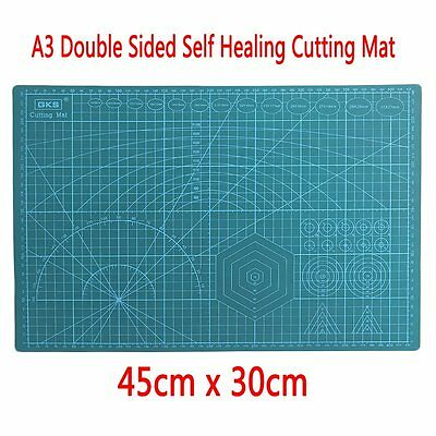 45x30CM A3 Double Sided Self Healing Rotary Knife Cutting Mat Paper Cut Board HT