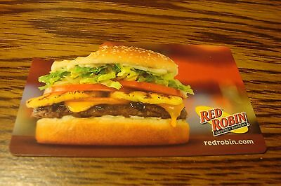 RED ROBIN GIFT CARD NO VALUE-Never Used or Activated Collectable Photo/Cutout