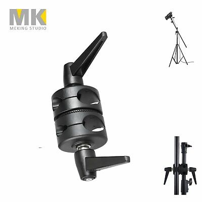 MK Selens Metal Photo Studio Lighting Light Stand Boom Stand Pivoting Boom Clamp