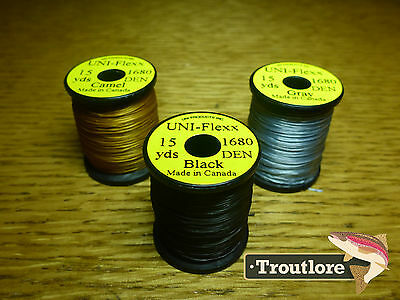 3 x SPOOLS UNI FLEXX BODY MATERIAL COMBO 2 NEW FLY TYING THREAD & MATERIALS