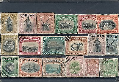 North Borneo Early collection stamps used and unused   HPS2