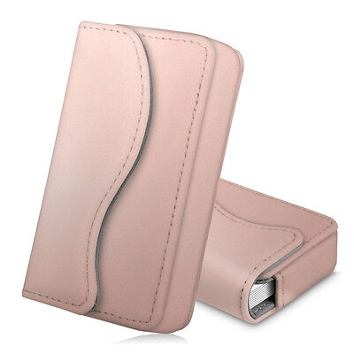 Business Card Holder Name Card Wallet Case Organizer Magnetic Closure- Rose Gold
