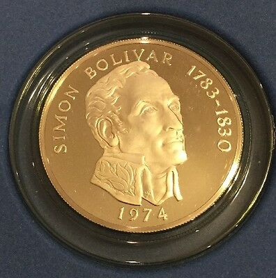 1974 Republic of Panama 20 Balboas 4.5 Oz 925 Ster Silver Proof Coin