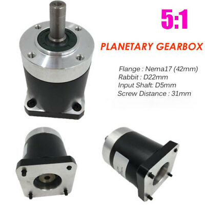 5:1 Gearbox Planetary Speed Reducer L41mm for Nema17 Flange 42mm Stepper Motor