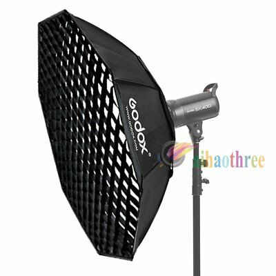 Godox 140cm Octagon Bowens Mount Softbox W/ Grid Octabox For Strobe Flash Light