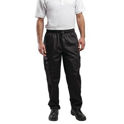 Le Chef Combat Pants Black XS BARGAIN