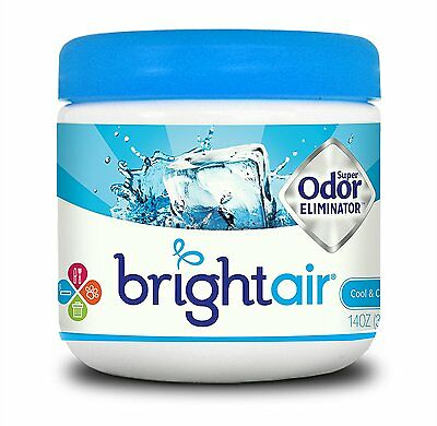 Bright Air Solid Air Freshener and Odor Eliminator, Cool and Clean Scent, 14 Oun