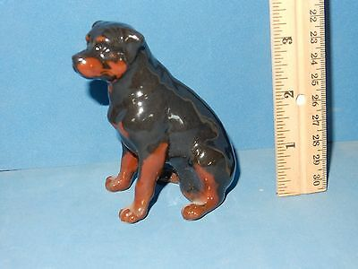 "ROTTWEILER DOG  HIGH QUALITY PORCELAIN CERAMIC BREED FIGURINE   3.5""  high"