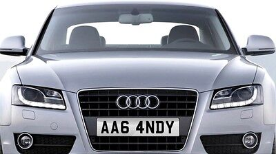 AA6 4NDY Number Plate - ANDY Audi A6 Andy