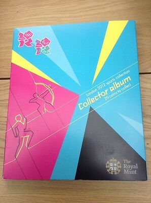 Olympic London 2012 Royal Mint Collectors Coin Album Complete - REDUCED!