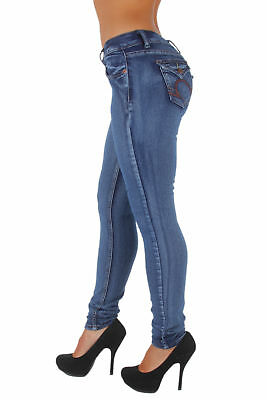 Style WG0018  Classic Washed Skinny Jeans with Envelop Back Pockets