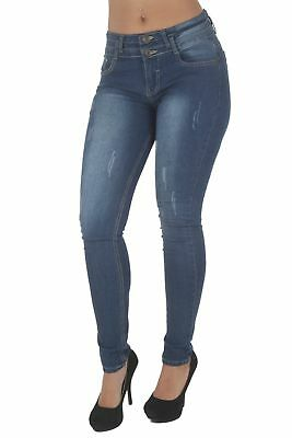 FWG0303P – Plus Size, Butt Lifting, Levanta Cola, Mid Waist, Skinny Jeans in