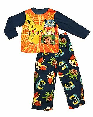 NEW Winter Pyjamas Boy Sleepwear Pokemon Go Pikachu A Sz 4-12