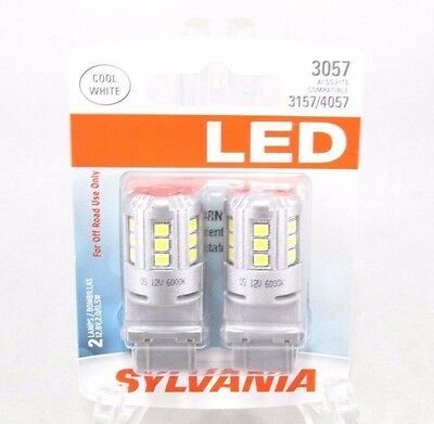 SYLVANIA 3057 White LED Bulb, (Contains 2 Bulbs)