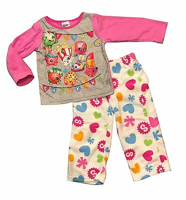 NEW Winter Pyjamas Girl Sleepwear Shopkins A Sz 4-10