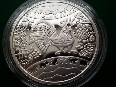 """Ukraine 5 UAH Lunar """"Year of the Rooster"""" Coin ,2016 year"""