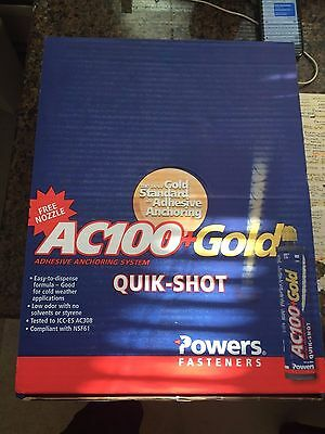 Powers Adhesive Anchoring System, 8478SD, AC100+Gold, 10 oz. epoxy tubes 12/case