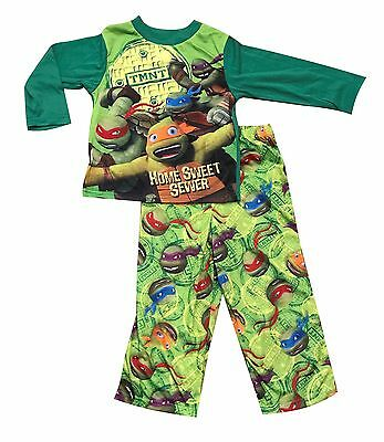 NEW Winter Pyjamas Boy Sleepwear TMNT Ninja Turtle B Sz 4-12