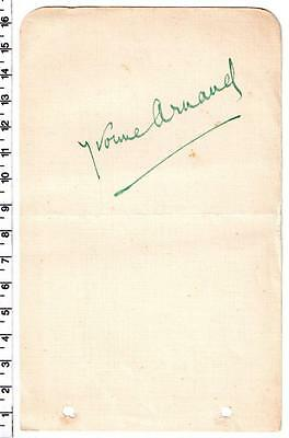 Yvonne Arnaud - British Actress 1930's/40's - Signed Autograph Album Page
