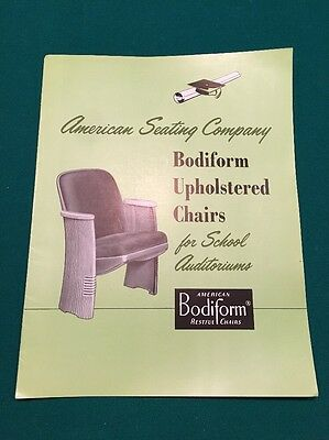 Vintage 1955 AMERICAN SEATING COMPANY Bodiform Upholstered Chairs Catalog