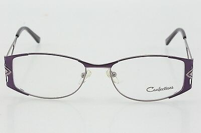 3b9fa0ef5c10 WOMEN'S CONFECTIONS CUPCAKE Purple Oval Frame Eyeglasses 54/17/135 ...