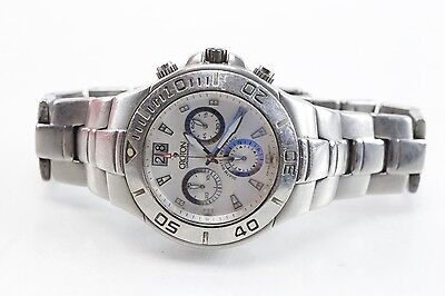 Croton Chronomaster Swiss Sapphire Crystal Stainless Steel Watch