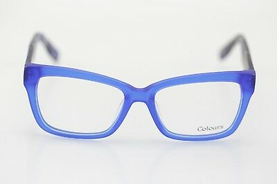 NEW Men's Colours Collection 101 Blue Square Eyeglasses 53/16/140 MSRP 79.99