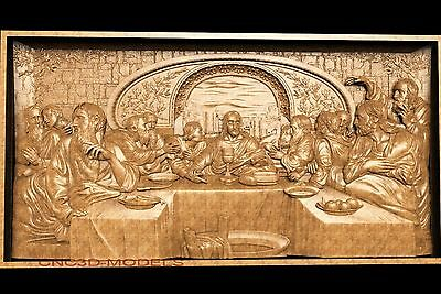 3D Model STL for CNC Router Carving Artcam Aspire Da Vinci's Last Supper 3072