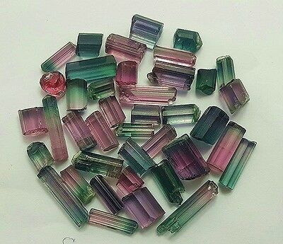 66.5 cts bi & tri color facet grade tourmaline clean for cutting jewelry size