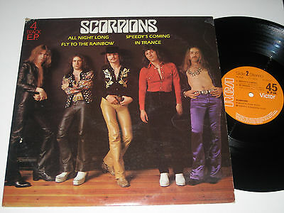"Scorpions - All Night Long 4 Track EP (RCA Hard Rock/Metal 12"" Vinyl EP-1979)"