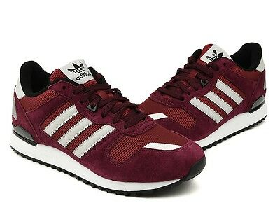 huge selection of 66ff7 c97fb ADIDAS ZX 700 Men's Shoes Trainers Burgundy Gray Black White S79184 NEW