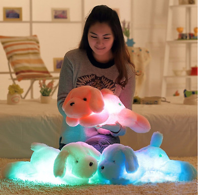 50cm Night Light LED Glowing Dogs PiNK Luminous Plush Children Girl Kid Toys