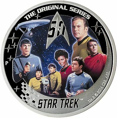 2016-P $2 Tuvalu Star Trek 50th Anniversary 2oz .999 Silver Proof Coin