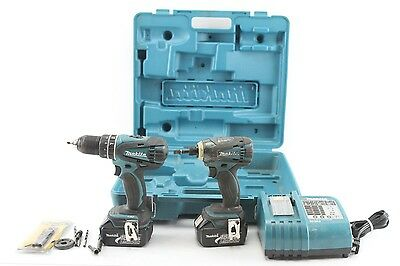 "Makita LXT211 18V Lithium-Ion 1/2"" Hammer Drill Driver & 1/4"" Impact Kit"