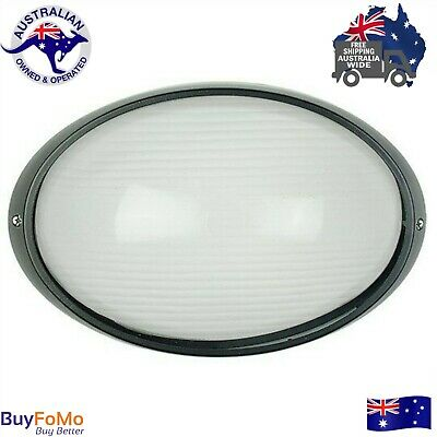 Large LED  outdoor oval bunker wall light -IP54 black external