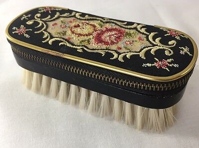 Vintage Germany Travel Sewing Kit Lint Brush Grooming Petit Point