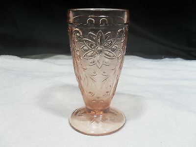 Vintage Depression Glass ~ Sandwich Iced Tea by Tiara ~ Peach/Pink