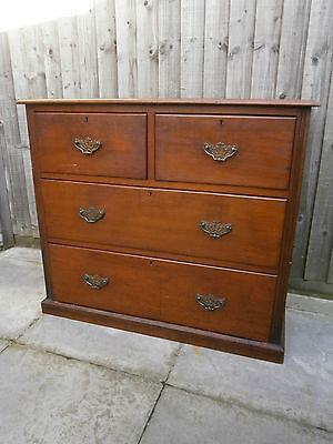 Antique Georgian mahogany chest of drawers two over two