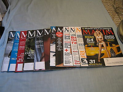 LOT OF 12 MAXIM MAGAZINE 2013-2016 THE HOT 100 Sexiest Girls in America