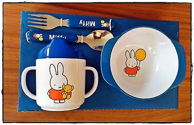 Miffy Baby's Travel Set 4 Piece Bowl Beaker Cup Fork Spoon Melamine Dick Bruna