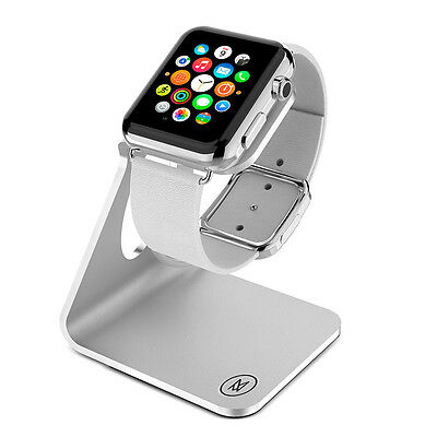 Minisuit Charging Dock Stand for Apple Watch 38 or 42mm (Horizontal Silver)
