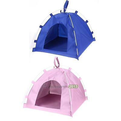 New Pet Dog Cat Tent Bed Playing House Kennel Doggy Basket Portable Folding